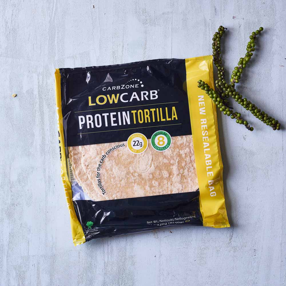 CarbZone low carb protein tortilla