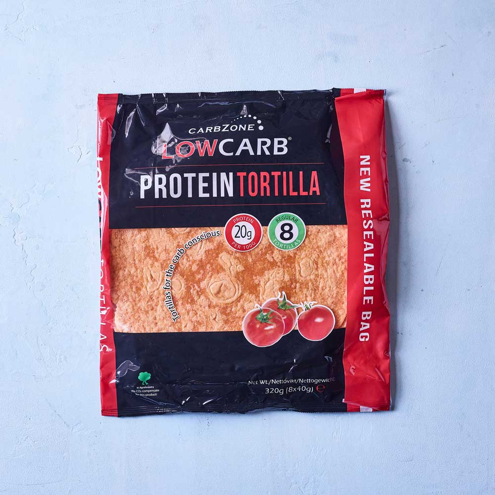 CarbZone low carb protein tortilla tomat
