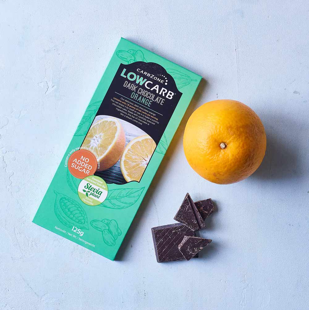 CarbZone low carb mørk chokolade orangesmag